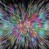 Fundo futurista de linhas e de formas coloridas Imagens de Stock Royalty Free