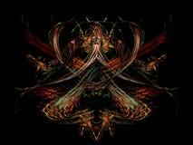 Fundo futurista do fractal abstrato Scifi dramático e ideal etc. ilustração royalty free