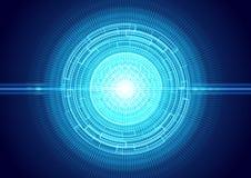 Fundo futurista do olho do laser da luz Fotografia de Stock Royalty Free