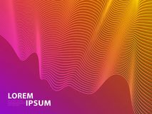 Fundo futurista do projeto do molde Linha moderna inclinações de intervalo mínimo geométricos do sumário 3D para a apresentação V ilustração royalty free