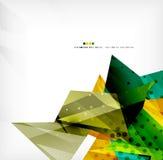 Fundo futurista do sumário geométrico da forma ilustração royalty free