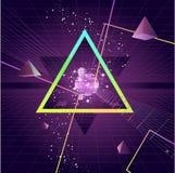 Fundo futurista do triângulo Foto de Stock