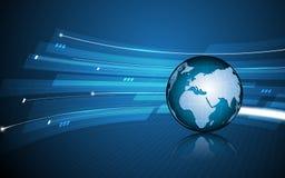 Fundo futurista futuro do conceito da inovação da tecnologia do teste padrão do globo abstrato Foto de Stock Royalty Free