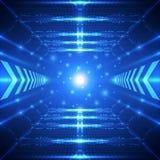 Fundo futuro abstrato do conceito da tecnologia, ilustração do vetor Imagens de Stock