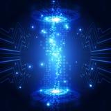 Fundo futuro abstrato do conceito da tecnologia, ilustração do vetor Fotografia de Stock