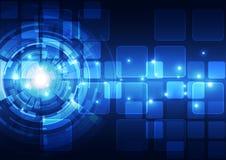 Fundo futuro abstrato do conceito da tecnologia, ilustração do vetor Fotografia de Stock Royalty Free