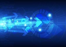 Fundo futuro global abstrato da tecnologia, ilustração do vetor Foto de Stock Royalty Free