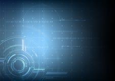 Fundo futuro tecnologico abstrato do vetor do modelo Foto de Stock Royalty Free