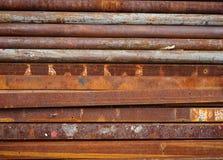Fundo galvanizado oxidado velho do teste padrão da textura do ferro foto de stock