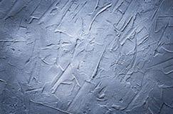 Fundo gasto cinzento e azul Parede Textured imagem de stock