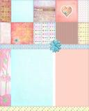 Fundo gasto do montagem do Quilt Imagens de Stock Royalty Free