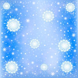 Fundo gelado da neve do inverno Fotos de Stock Royalty Free