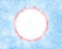 Fundo gelado do Natal com espaço vazio ilustração stock
