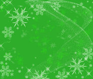 Fundo gelado dos flocos de neve Imagens de Stock Royalty Free