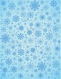 Fundo gelado dos flocos de neve do vetor ilustração royalty free