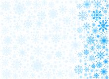 Fundo gelado dos flocos de neve do vetor ilustração stock