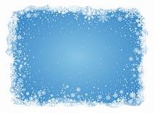 Fundo gelado dos flocos de neve do vetor ilustração do vetor