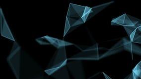 Fundo geométrico abstrato video estoque