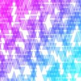 Fundo geométrico abstrato colorido do negócio Mosaico aleatório da violeta, as cor-de-rosa e as azuis das formas geométricas Fotos de Stock