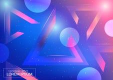 Fundo geométrico abstrato colorido Projeto de espaço futurista Fotografia de Stock