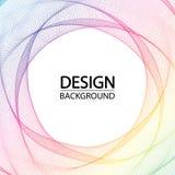 Fundo geométrico abstrato com círculos dinâmicos do arco-íris Linha arte criativa ilustração stock
