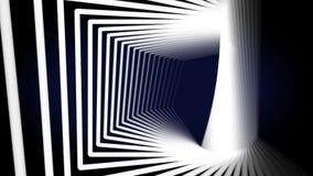 Fundo geométrico abstrato com linhas e os pontos moventes ilustração do vetor