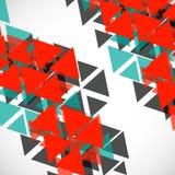 Fundo geométrico abstrato com triângulos Imagem de Stock
