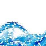 Fundo geométrico abstrato com triângulos da cor Ilustração do vetor Projeto do folheto ilustração royalty free