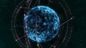 Fundo geométrico abstrato Dar laços sem emenda 4K video estoque
