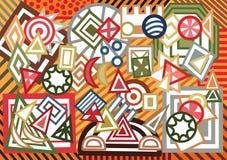 Fundo geométrico abstrato das formas Imagens de Stock