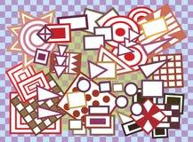 Fundo geométrico abstrato das formas Fotografia de Stock
