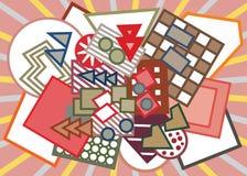 Fundo geométrico abstrato das formas Imagens de Stock Royalty Free