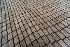 Fundo geométrico abstrato das pedras de pavimentação foto de stock