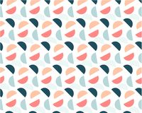 Fundo geométrico abstrato de círculos coloridos em um fundo branco ilustração royalty free