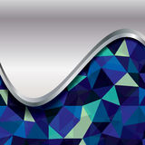 Fundo geométrico abstrato de polígono triangulares Fotografia de Stock