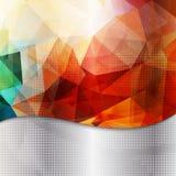 Fundo geométrico abstrato do convite ou do cartaz Fotos de Stock