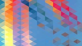 Fundo geométrico abstrato do triângulo, arte, artístico, brilhante, colorida, projeto Teste padrão para o anúncio do negócio, bro ilustração royalty free