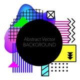 Fundo geométrico abstrato do vetor Cartaz abstrato moderno e à moda do projeto Fotografia de Stock Royalty Free