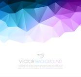 Fundo geométrico abstrato do vetor com triângulo Fotografia de Stock