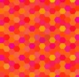 Fundo geométrico abstrato do vetor do hexágono Bom para materiais da promoção, folhetos, bandeiras ilustração do vetor