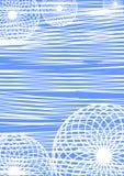 Fundo geométrico abstrato do vetor Linhas e círculos Fotos de Stock