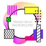 Fundo geométrico abstrato do vetor Moderno e à moda ilustração stock