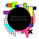 Fundo geométrico abstrato do vetor Moderno e à moda Fotografia de Stock