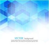Fundo geométrico abstrato do vetor Projeto do folheto do molde Forma azul EPS10 do hexágono ilustração do vetor