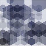 Fundo geométrico abstrato do vetor Projeto do folheto do molde ilustração stock