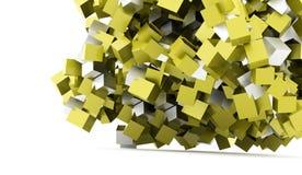 Fundo geométrico abstrato dos cubos rendido ilustração do vetor