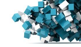 Fundo geométrico abstrato dos cubos rendido ilustração stock