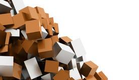 Fundo geométrico abstrato dos cubos rendido ilustração royalty free