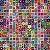 Fundo geométrico abstrato dos quadrados ilustração stock