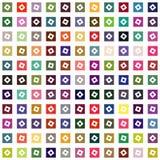 Fundo geométrico abstrato dos quadrados ilustração royalty free